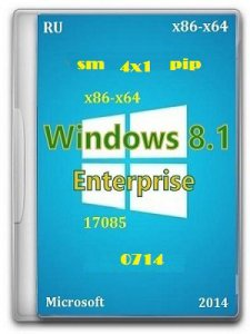 Microsoft Windows 8.1 Enterprise 17085 x86-x64 RU 4x1 0714 by Lopatkin (2014) �������