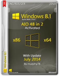 Windows 8.1 AIO 48in2 With Update July 2014 by murphy78 (x86-x64) (2014) [ENG/RUS/GER]