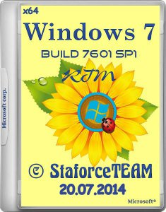 Windows 7 Build 7601 SP1 RTM StaforceTEAM (x64) (20.07.2014) [DE/EN/RU]