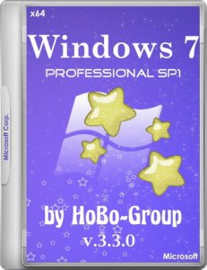 Windows 7 Professional SP1 by HoBo-Group 3.3.0 (x64) (2014) [RUS]