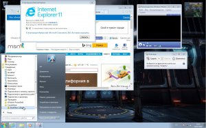 Microsoft Windows 7 Ultimate SP1 6.1.7601.22616 х86 RU Games by Lopatkin (2014) Русский
