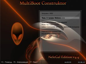 Multiboot USB Flash NeleGal Edition UEFI v4.4 (x86-x64) (2014) [Rus]