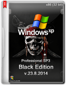 Windows XP Professional SP3 Black Edition v.23.8.2014 (x86) (2014) [Rus/Eng]