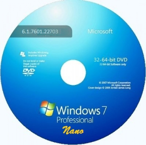 Microsoft Windows 7 Professional VL SP1 6.1.7601.22703 x86-х64 RU NANO by Lopatkin (2014) Русский