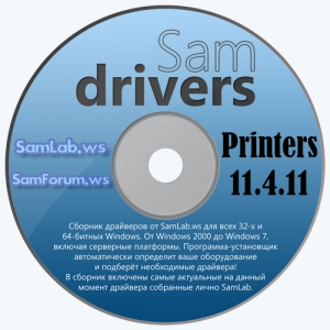 SamDrivers 11.4.11 Printers for Snappy Driver Installer [Multi/Ru]