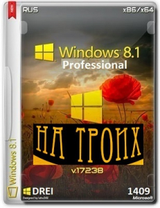Microsoft Windows 8.1 Pro VL 17238 x86-x64 RU DREI 1409 by Lopatkin (2014) Русский