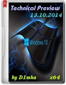 Windows 10 Technical Preview by D1mka v4.8 (x64) (2014) [Rus/Eng]