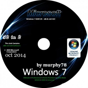 Windows 7 SP1 AIO 52in2 IE11 by murphy78 v.7601 (x86/x64) (oct,2014) [MUL/RUS]