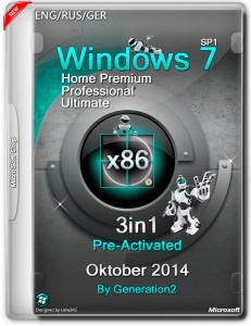 Windows 7 SP1 3in1 Pre-Activated Oktober by Generation2 (x86) (2014) [ENG/RUS/GER]