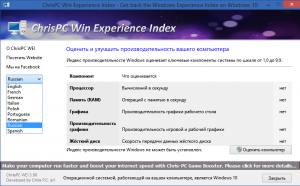 ChrisPC Win Experience Index 3.00 [Multi/Ru]