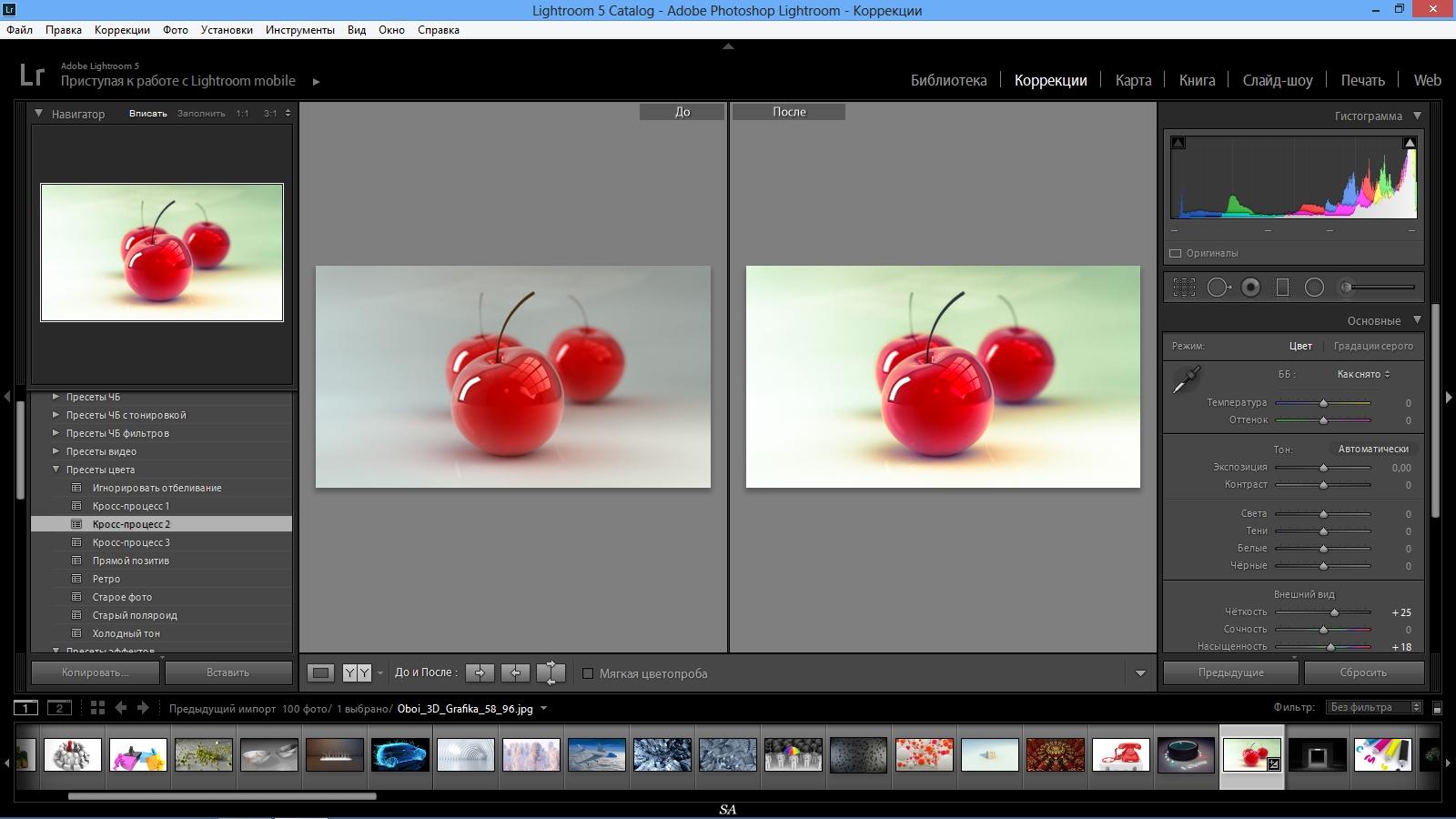 Как в lightroom сделать светлую фото