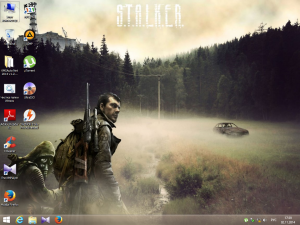 Win 8.1 Enterprise No Metro S.T.A.L.K.E.R. Wallpaper by 43 Region (x86) (2014) [Rus]