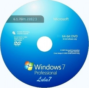 Microsoft Windows 7 Professional VL SP1 6.1.7601.22823 �64 RU LULU7 1411 by Lopatkin (2014) �������