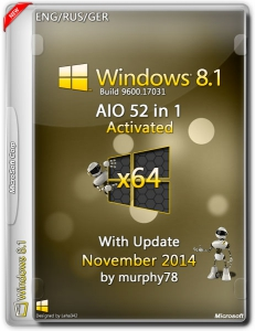 Windows 8.1 AIO 52in1 With Update November by murphy78 (x64) (2014) [ENG/RUS/GER]