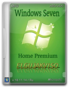 Windows 7 Home Premium SP1 Elgujakviso Edition v18.11.14 (32bit/64bit) (2014) [Rus]