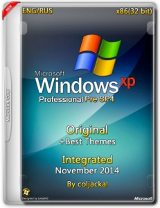 Windows XP Pro Pre SP4 Integrated November + Best Themes by coljackal v.5.1.2600 (x86) (2014) [ENG/RUS]