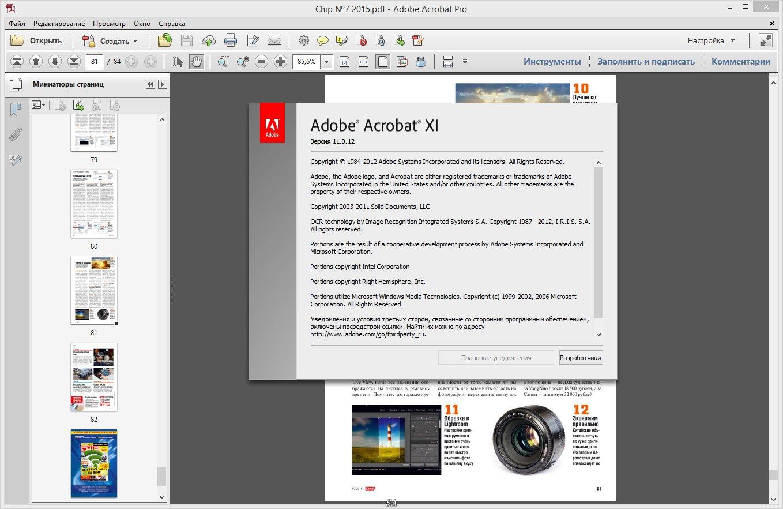 Скачать бесплатно Adobe Reader Адобе Ридер 11000