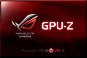 GPU-Z 0.8.5 + ASUS ROG Skin [Eng]