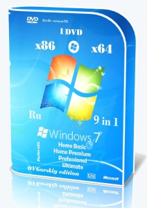 Microsoft Windows 7 SP1 x86/x64 Ru 9 in 1 Origin-Upd 08.2015 by OVGorskiy® 1DVD [Ru]