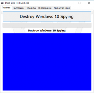 Destroy Windows 10 Spying v1.5 Build 328 [Multi/Ru]