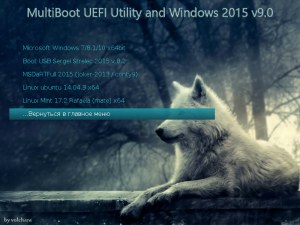 MultiBoot USB HDD Utility and Windows + Linux 2015 Full v9.0 [Ru]