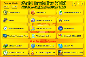 Gold Installer 2016 (Software Pack 2016) by Muhammad Sadeem (x86-x64) [Eng]