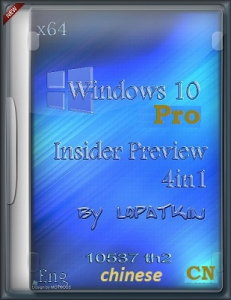 Microsoft Windows 10 Pro Insider Preview 10537 th2 x64 EN-CN 4x1