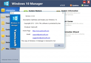 Windows 10 Manager 1.0.3 Final Portable by PortableWares [En]