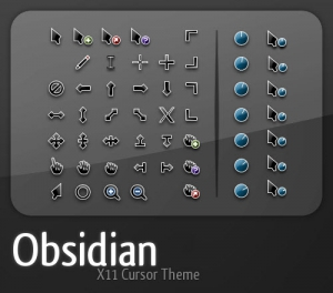 Obsidian Cursor Set 2 Sizes by teft [Multi/Ru]