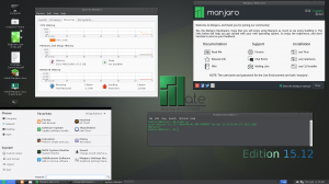 Manjaro Linux 15.12 (Arch + ��������� ������� ������) [i686] 9xDVD, 3xCD