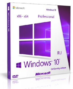 Microsoft® Windows® 10 Professional x86-x64 1511 RU by OVGorskiy® 01.2016 2DVD