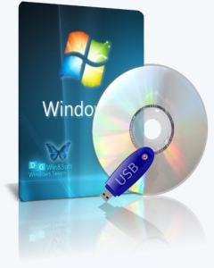 Microsoft Windows 7 SP1-u with IE11 (2 x 3in1) - DG Win&Soft 2016.01 (en-US, ru-RU, uk-UA) [2 образа: x64 и x86]