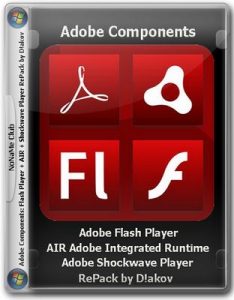 Adobe components: Flash Player 21.0.0.182 | AIR 21.0.0.176 | Shockwave Player 12.2.4.194 RePack by D!akov [Multi/Ru]