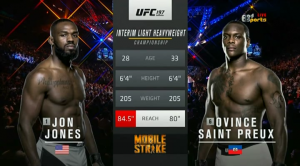 ��������� ������������ - UFC 197: Jones vs. Saint Preux