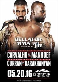 Смешанные единоборства - MMA. Bellator 155: Carvalho vs. Manhoef