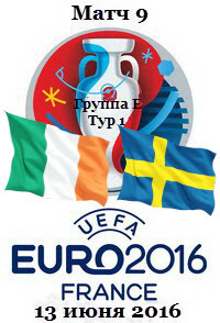 Футбол. Чемпионат Европы 2016 (Группа Е. 1 тур) Ирландия - Швеция + Превью