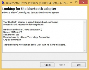 Bluetooth Driver Installer 1.0.0.104 Beta [En]