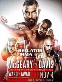 Смешанные единоборства - MMA. Bellator 163: McGeary vs. Davis