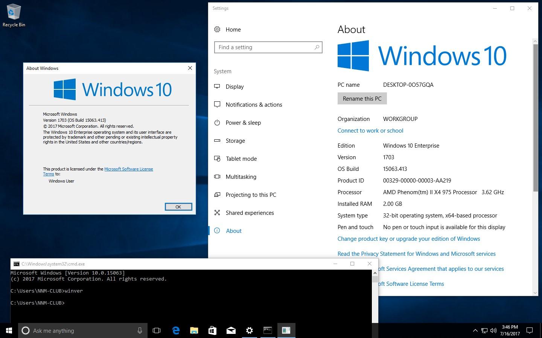 Windows 10 Pro Final Original Microsoft Vlsc: Microsoft Windows 10 10.0.15063.413 Version 1703 (Updated