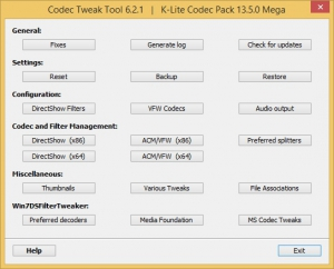 K-Lite Codec Pack 14.0.0 Mega/Full/Standard/Basic + Update 14.0.1 [En]