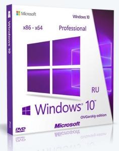 Microsoft® Windows® 10 Professional VL x86-x64 1903 19H1 RU by OVGorskiy® 07.2019 2DVD