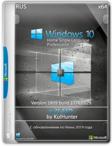 Windows 10 (v1809) x64 HSL/PRO by Kulhunter v21.1 (esd) [Ru]