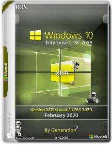 Windows 10 Enterprise LTSC 2019 x64 v.1809.17763.1369 July 2020 by Generation2 [Multi/Ru]