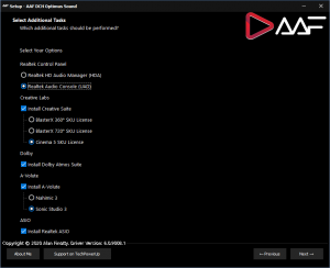 AAF DCH Optimus Sound 6.0.9102.1 Realtek Mod by AlanFinotty [En]