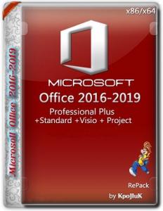 Microsoft Office 2016-2021 Professional Plus / Standard + Visio + Project 16.0.14228.20204 (2021.07) (W10) RePack by KpoJIuK [Multi/Ru]