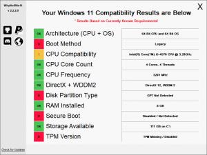 WhyNotWin11 2.3.1.0 Portable [Ru/En]